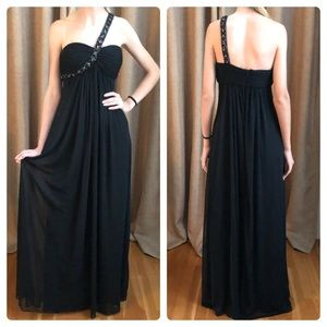 Cache black gown jeweled shoulder strap/2